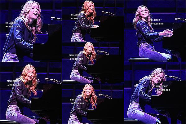 * 06/06/18 :    Melissa a chanté un aperçu de sa comédie musicale au « Stephen Sondheim Theatre » dans New York. Melissa montrait à la presse quelques chansons de la comédie Beautiful - The Carole King Musical dans laquelle elle va chanter. Superbe tenue. Un Top.  *