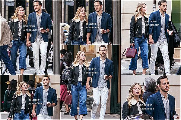* 24/09/18 :    Melissa B. et Chris Wood ont été repérés lorsqu'ils se promenaient sur la « Rue Royale », située à Paris. Ils sont mignons tous les deux. Melissa est donc dans la capitale française le temps d'un séjour. J'aime beaucoup la tenue qu'elle porte, je lui mets un Top  *