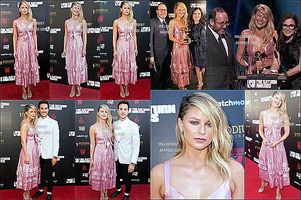 * '•-13/09/19-' : Melissa Benoist a assisté à l'événement « 45th Annual Saturn Awards » qui se déroulait dans Los Angeles. Melissa était accompagnée de son copain Christopher Wood. Elle est vraiment ravissante. J'aime beaucoup sa robe. C'est un Top pour moi *