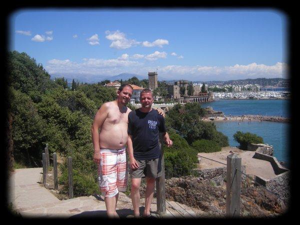 Nous voici tous les deux a Mandelieu-La napoule (alpes maritimes)