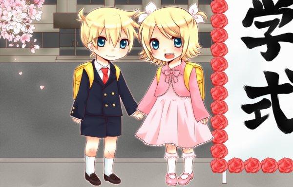 Rin et Len Kagamine au Jardin d'enfants