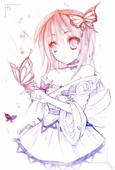 Anime butterfly