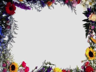 cadre avec des fleurs photomasque pour photofiltre. Black Bedroom Furniture Sets. Home Design Ideas