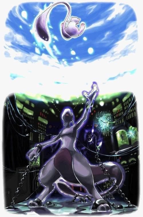 Feuille à Fanfiction : Mewie à la recherche de Mewtwo. - Pokémon.