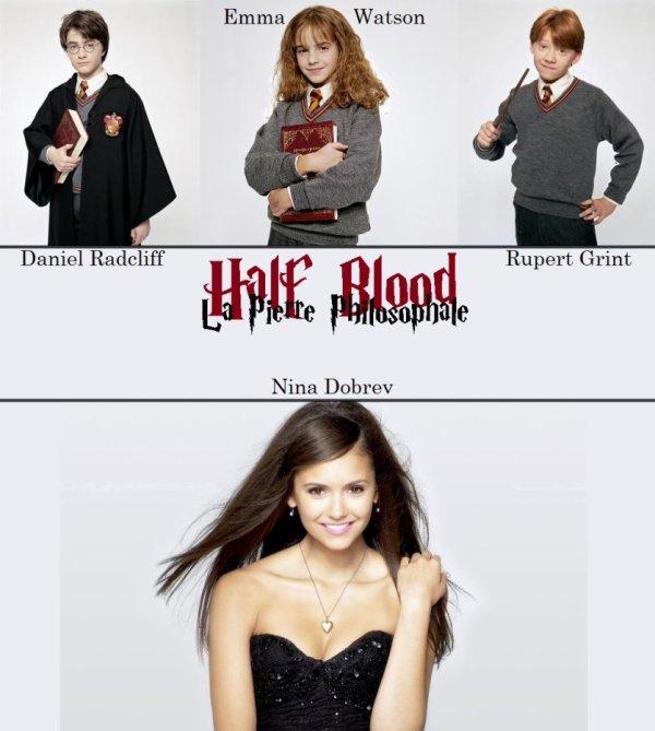 Feuille à Fanfiction : Half blood. - Harry Potter / Percy Jackson.