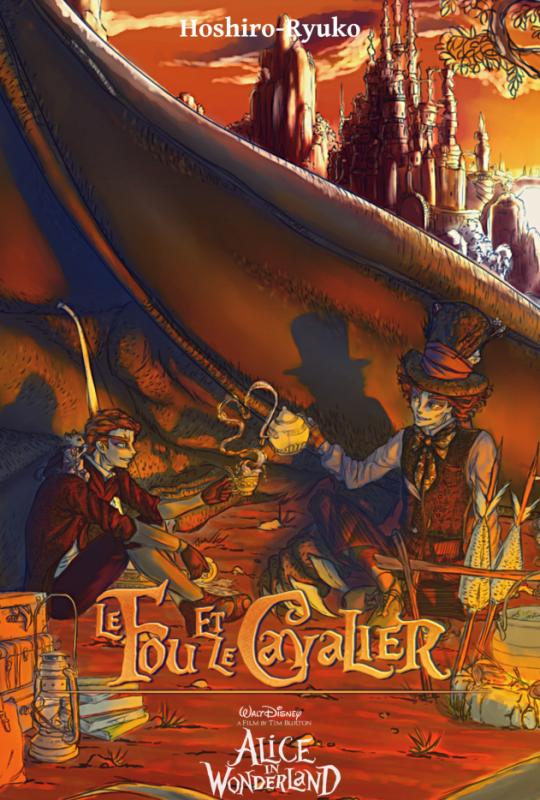 Feuille à Fanfiction : Le Fou et le Cavalier. - Alice au pays des merveilles.