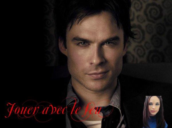 Feuille à Fanfiction  : Jouer avec le feu. - Vampire Diaries.