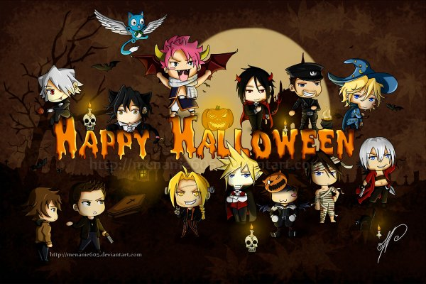 Feuille à One Shot : Un halloween pas comme les autres... - Kuroshitsuji / Vampire Knight / Fruit Basket / Love is the devil.
