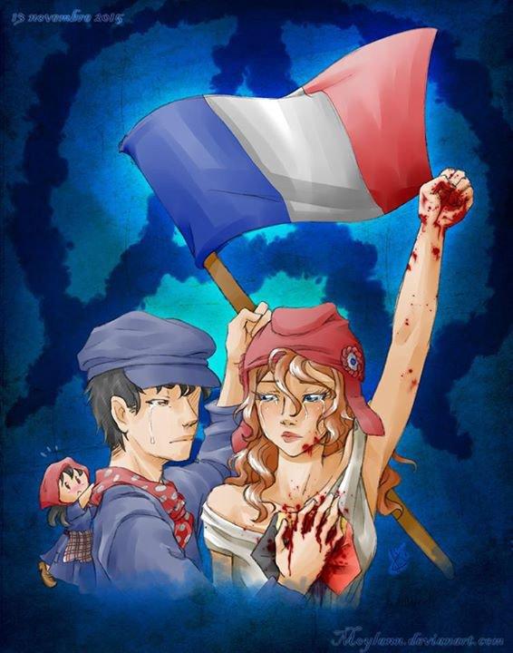 Feuille à One Shot : Pray for... Paris... - Original.