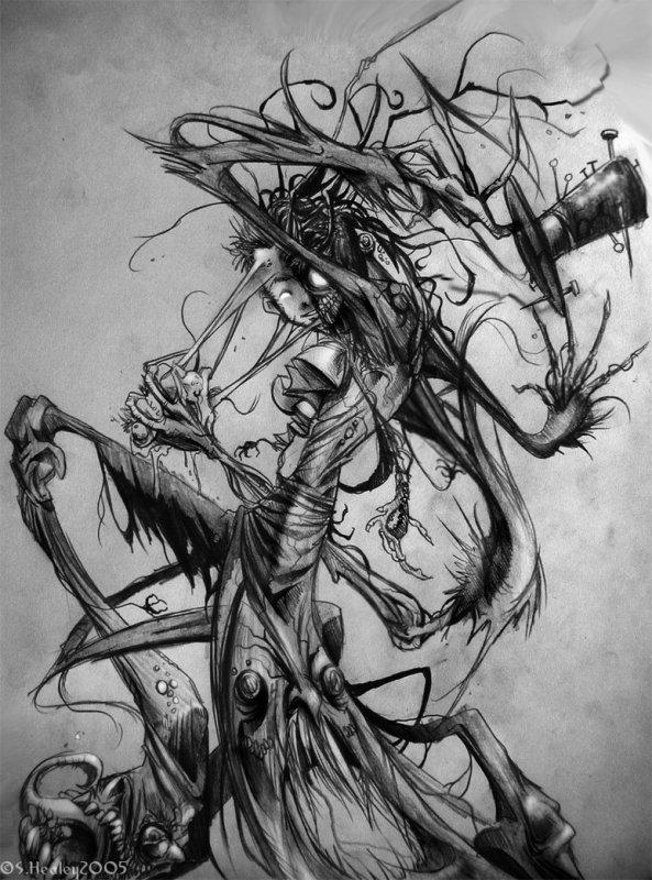 Feuille à One Shot : Tous les monstres ont peur du noir ? - Original.