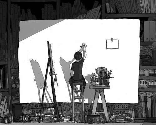 Feuille à One Shot : Monochrome. - Original.