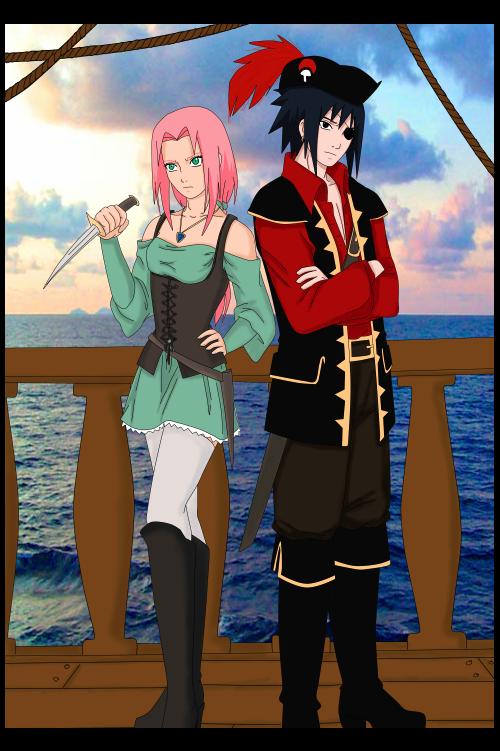 Feuille à Fanfiction : He's a pirate. - Naruto.