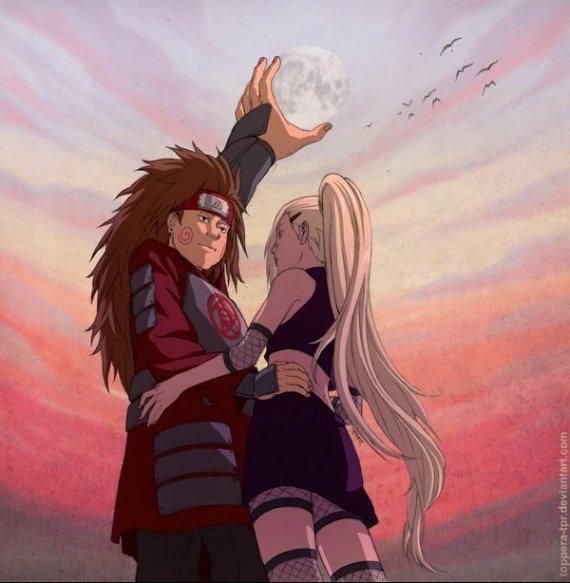 Feuille à One Shot : La lune. - Naruto.