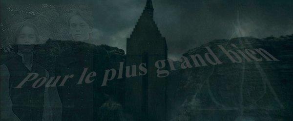 Feuille à Fanfiction : Pour le plus grand bien. - Harry Potter.