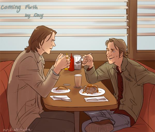 Feuille à One Shot : Bonding over Dean's misfortune. - Supernatural.