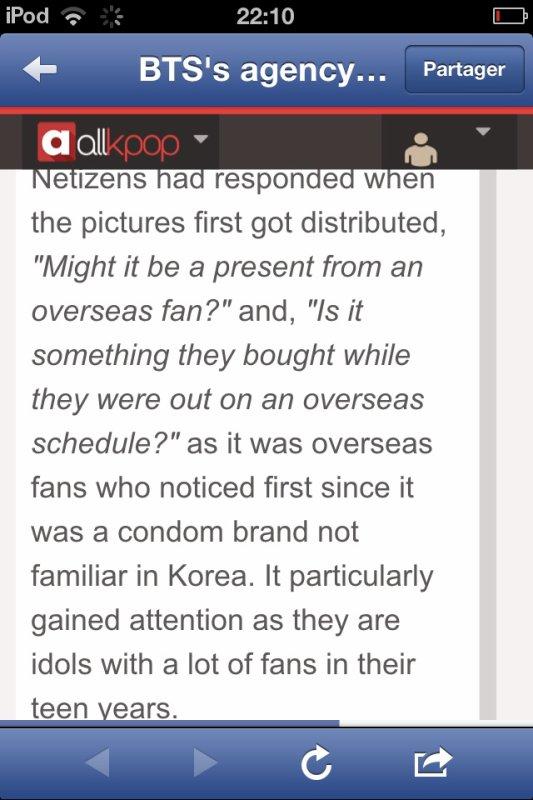Pour l'histoire du préservatif qui apparaît sur la photographie de Jin ( BTS ), j'ai la réponse à vos questions ( normalement ) .