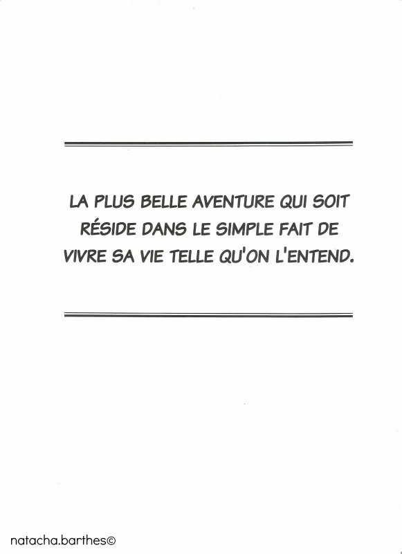 Phrase d'introduction du tome