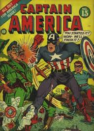 CAPTAIN AMERICA- PENDANT LA SECONDE GUERRE MONDIAL : COMMENTAIRE D'IMAGE.