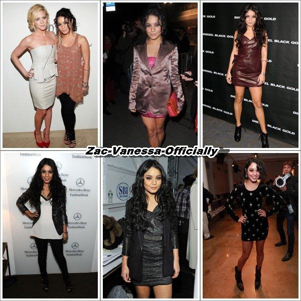 Vanessa a la Fashion week à New-York en Fevrier 2011. Quels sont les Top/ Flop ?