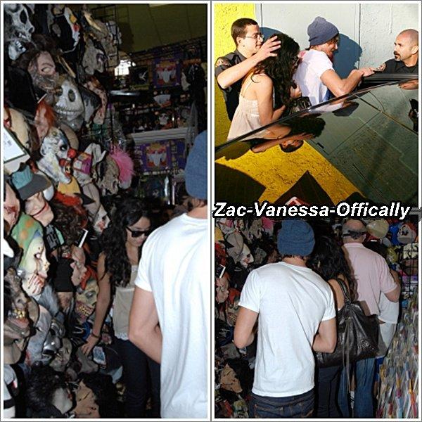 31 Octobre 2007: Zac Efron & Vanessa Hudgens de sortie pour achter un costume pour Halloween. Top ou Flop ?