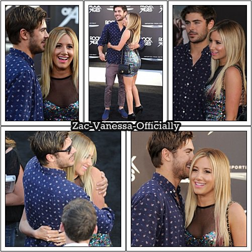 Flach-Back: Ashley & Zac at 'Rock of Ages' Premiere ( June 8 2012)