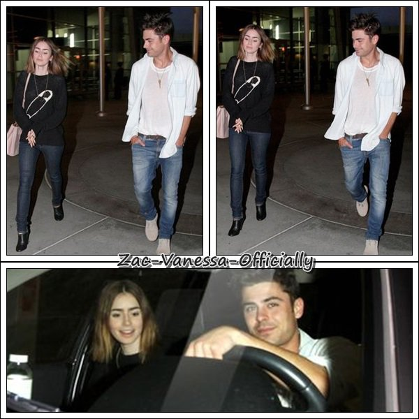 Flach Back: Zac Efron & (sa copine? Ex?) Lily Collins sortant d'un cinémas a Los Angeles le 11 Octobre 2013