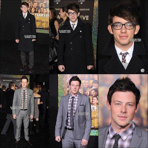 06/12/2011 - Lea et les garçons du cast à la première de « New Year's Eve ».