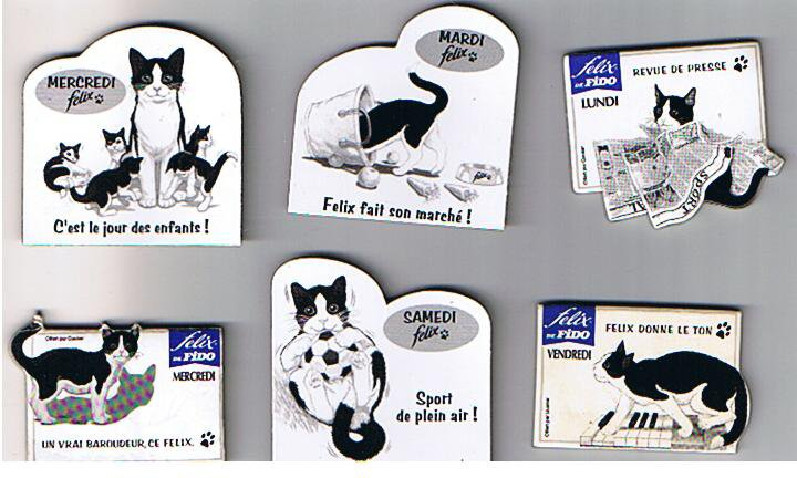 Nouveau magnets à échanger : HARRY'S, FELIX, BN, ACTIMEL, FRUITE .....