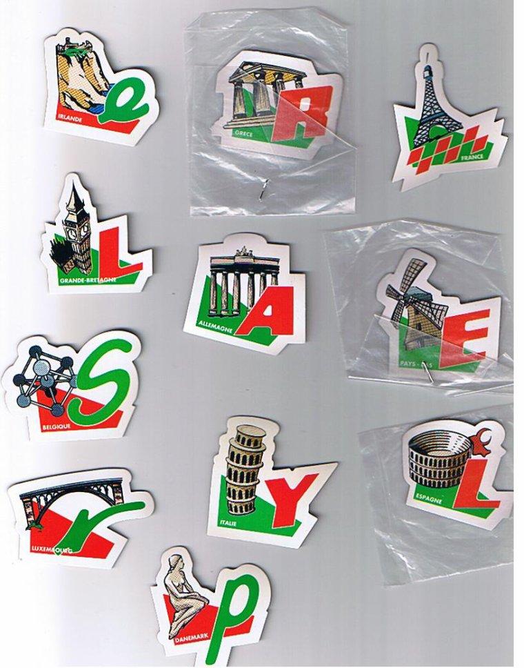 Nouveaux magnets dispo pour échange : AUCHAN, STOC, LECLERC, BABYBELLn ....