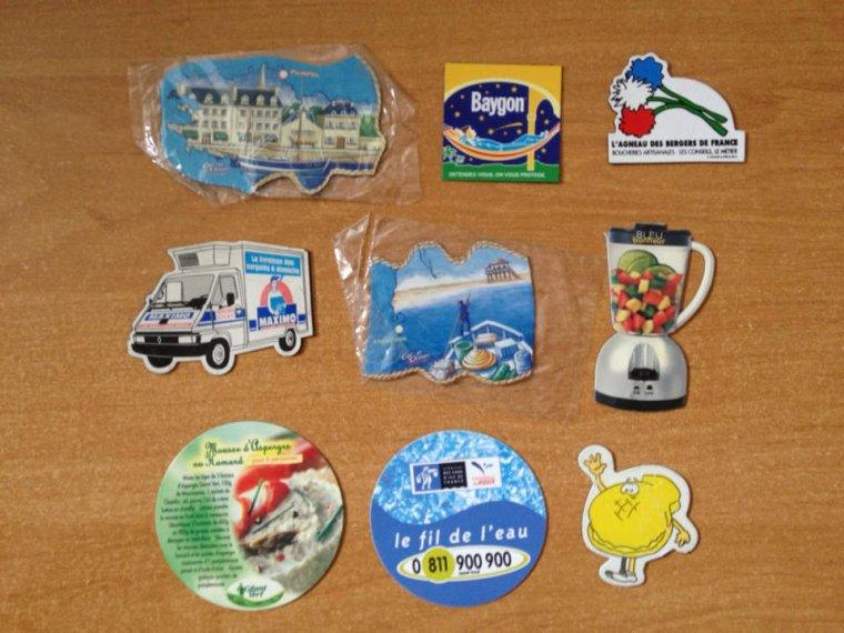 Magnets dispo pour échange : ALSA, CHAMPION , LA POSTE, MIKO,......