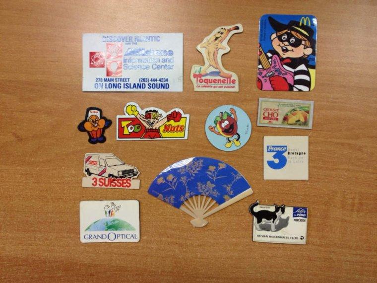Magnets dispo pour échange : BAYGON, GERVAIS, BUITONI, TRUCULUS .....
