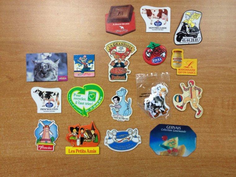Magnets dispo pour échange : CANDEREL, PITCH, BRESSE BLEUE, ....