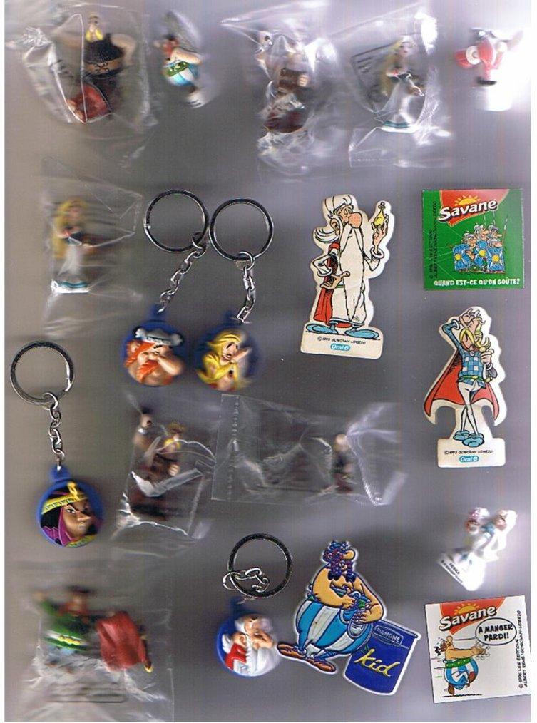ASTERIX : magnets, porte clef, figurine, divers à échanger