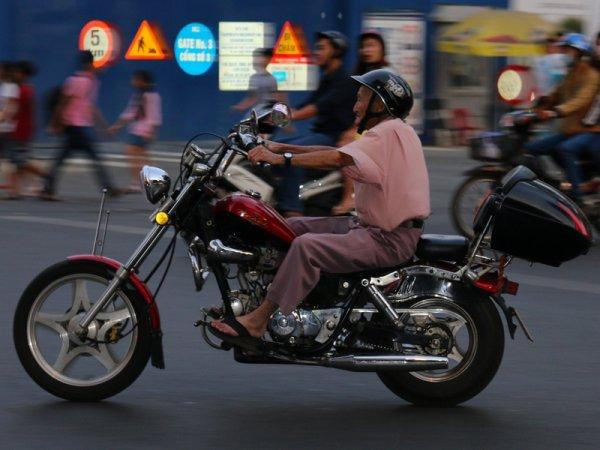 Vieux motard...