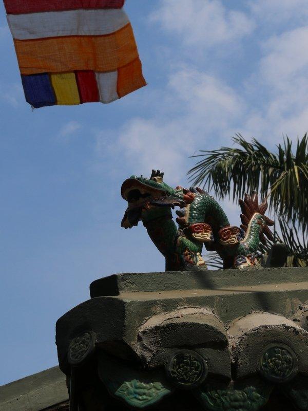 Un dragon sur un toit...