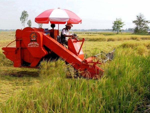 Mécanisation des trav'Hồs agricoles.