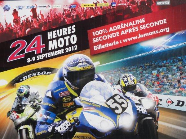 Affiche officielle des 24 Heures Moto 2012