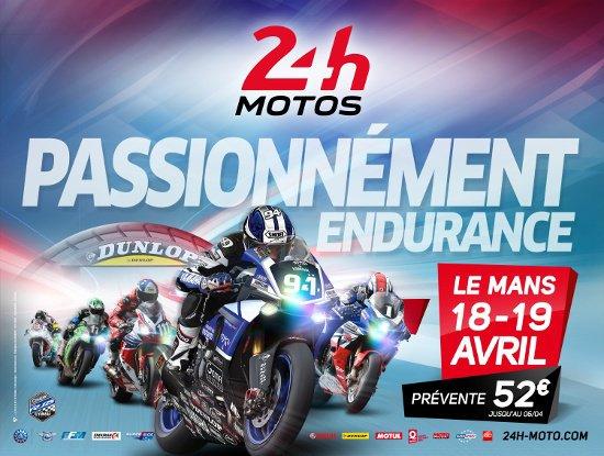 L'Affiche Officielle des 24 Heures Moto 2015.