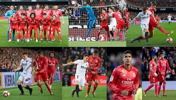 03 avril 2019 : Notre champion du monde Raphaël Varane était donc titulaire face à Valencia à Mestalla pour la Liga.   Les madrilènes se sont inclinés sur le score de 2-1, seul but de Benzema (93'). Défaite totalement méritée, bon match de Varane. [/font=Arial]