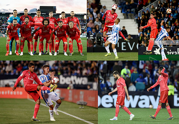 15 avril 2019 : Le français et champion Raphaël Varane était donc titulaire face à Leganés à Butarque pour la Liga.   Les madrilènes ont réalisés un match nul 1-1, seul but de Karim Benzema (51') permet de repartir avec un point à la maison. [/font=Arial]