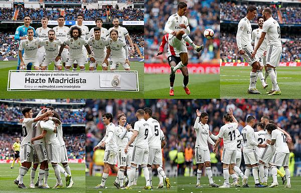 21 avril 2019 : Raphaël Varane était donc titulaire face à l'Athletic Bilbao à Santiago Bernabéu pour la Liga.   Les madrilènes se sont imposés 3-0, grâce au triplée de Karim Benzema (47', 76', 90'). Très bon de notre défense. [/font=Arial]