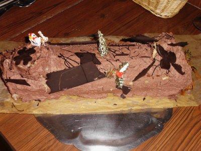 buche mousse chocolat