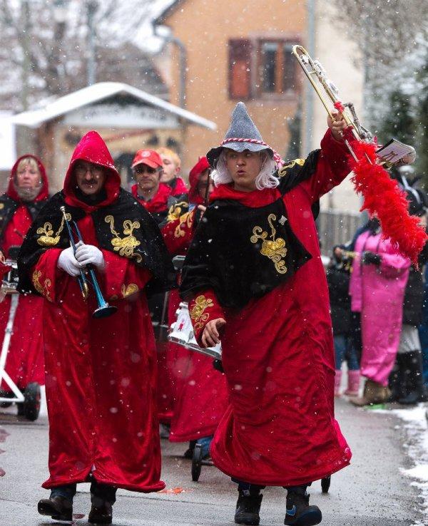 sous la neige  pour un carnaval