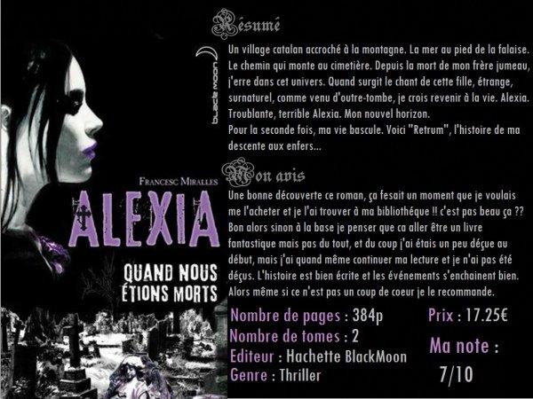 Alexia, Quand nous étions morts (Francesc Miralles)