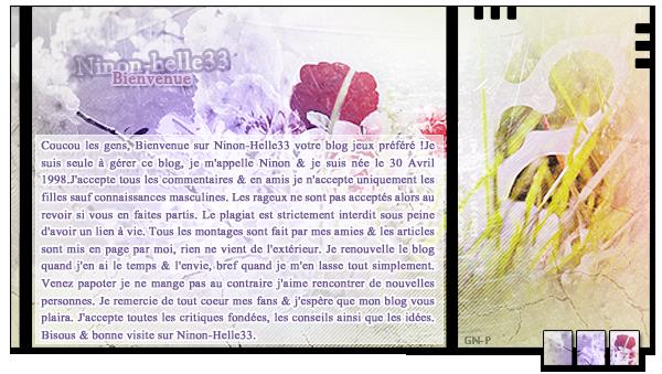 Bienvenue sur Ninon-Helle33 & Amuse-toi c'est le plus important !___-_