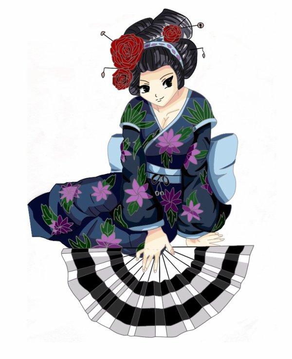 dessin pour le concours de ota manga japon geisha. Black Bedroom Furniture Sets. Home Design Ideas