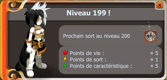 Phaestos a enfin up lvl 199
