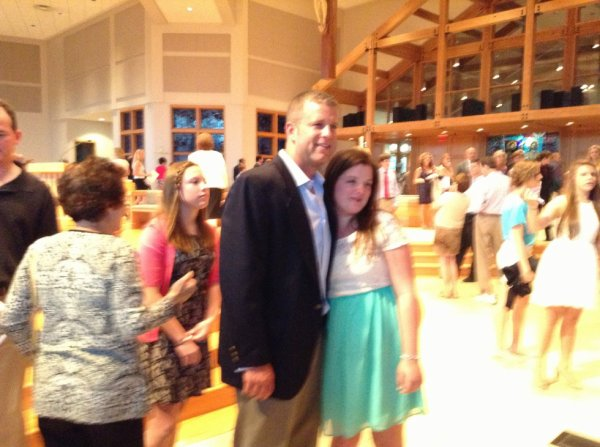 Graduation - my grandaughter and my son