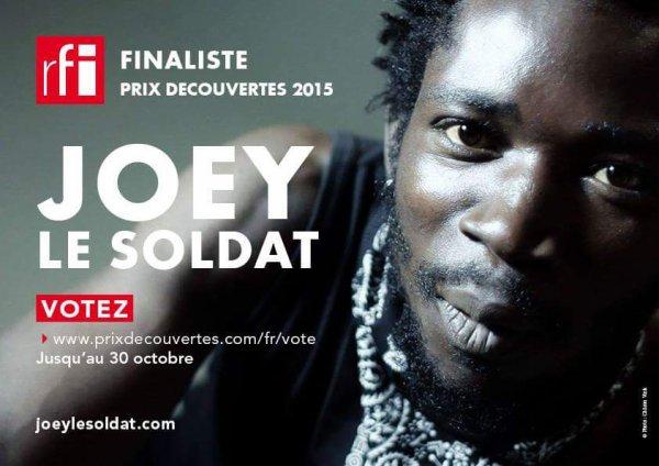 Votez pour Joey Le Soldat pour le Prix decouvertes RFI