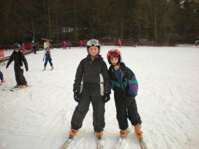 les tout premiers pas de ski